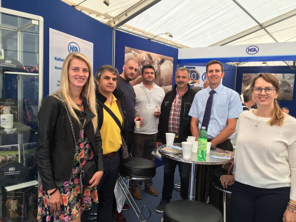 With IM host Richard Saunders (second from right) on the NSA stand