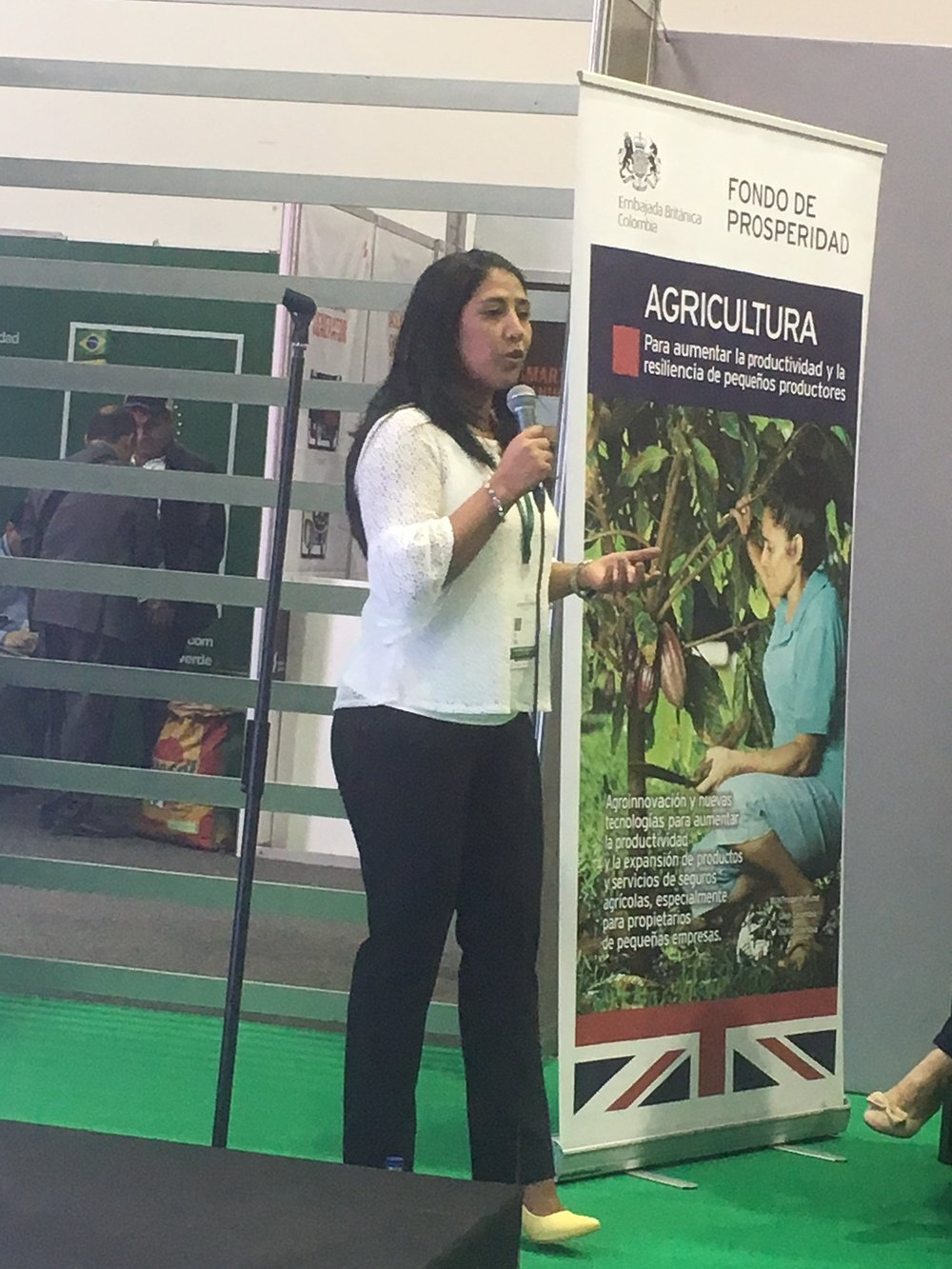 Karen Ayala speaking on 'Sustainable Perspectives for Livestock Production'
