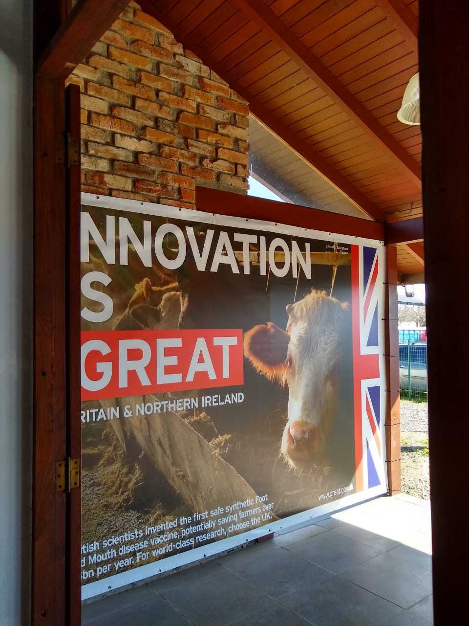 The GREAT branding on the British House at ExpoInter