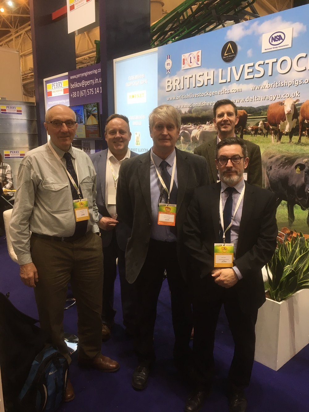 L-R Chris Jackson (UKTAG),  Matt Holmes (Perendale), Edward Adamson (NSA), Richard Saunders (BLG) and Mark Oakes (DIT Head of Bioeconomy)