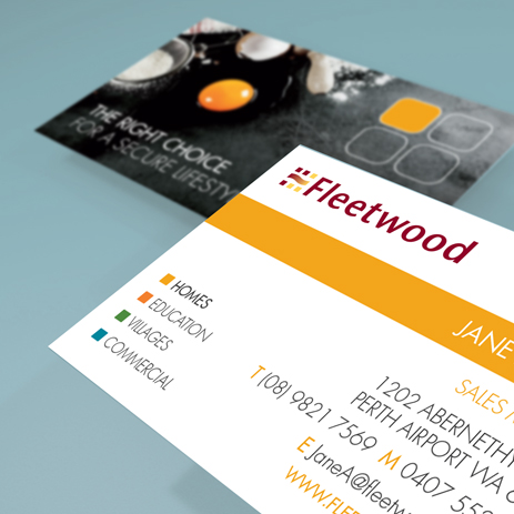 Fleetwood: business cards (for Creative Fruition studio)