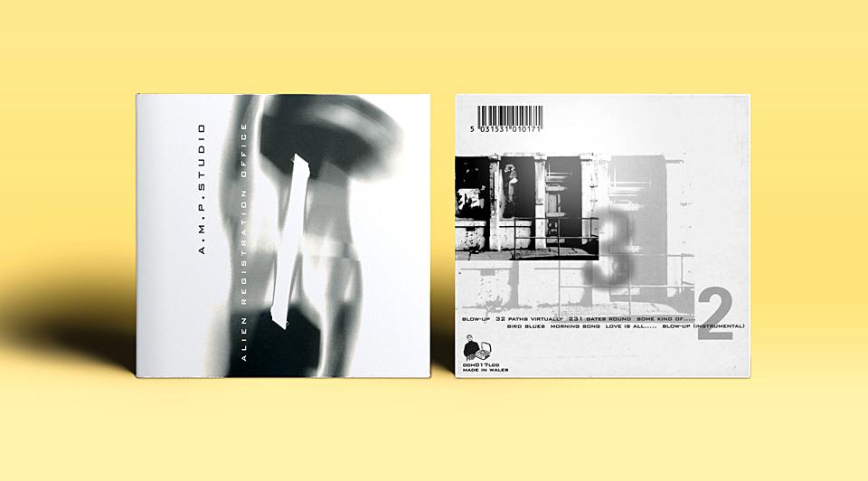 Ochre Records: AMP Studio CD cover and inner sleeve