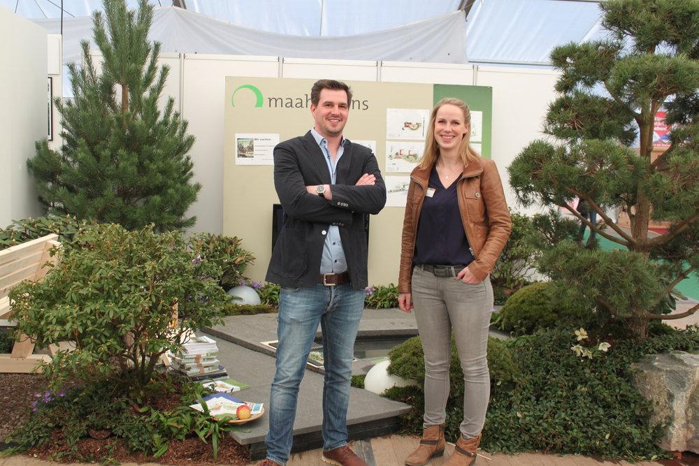Geschäftsführer Patrick Maahs und Planerin Melanie Schlottau wissen, wie man das Beste aus dem Garten herausholt.