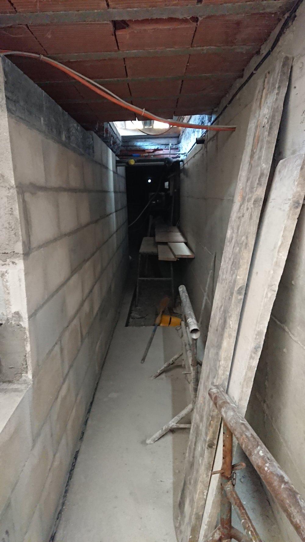 le sous-sol se dessine