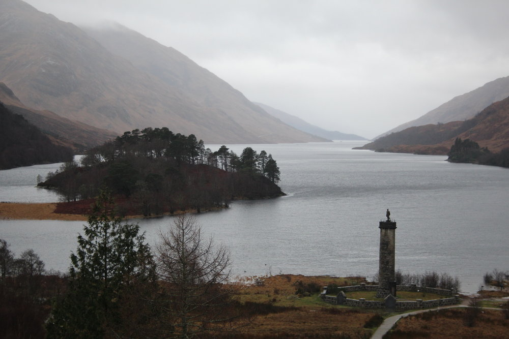 An atmospheric photo of Glenfinnan Monument