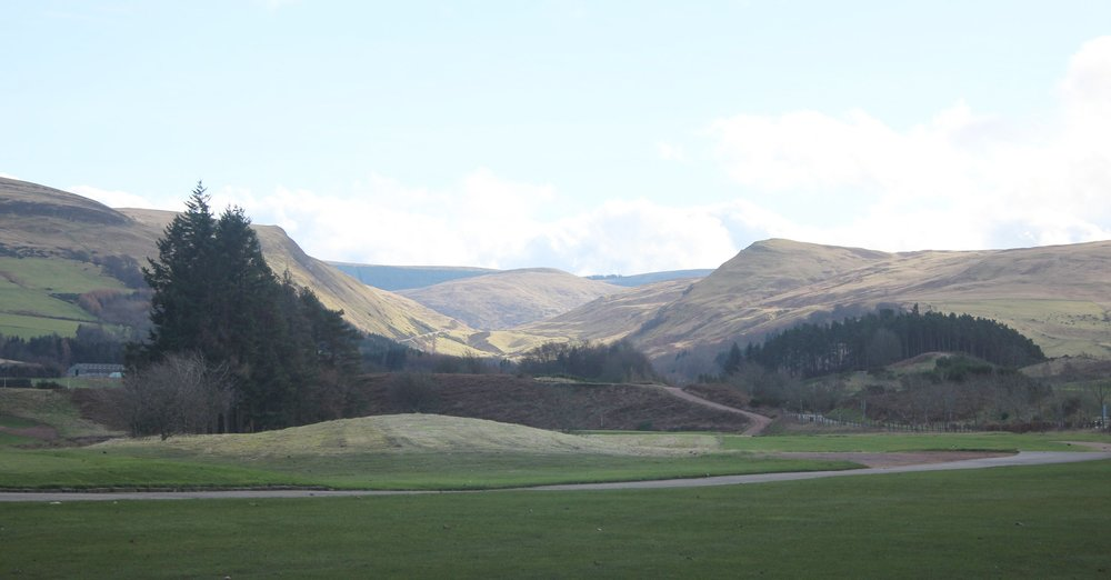 The View southwards from Gleneagles