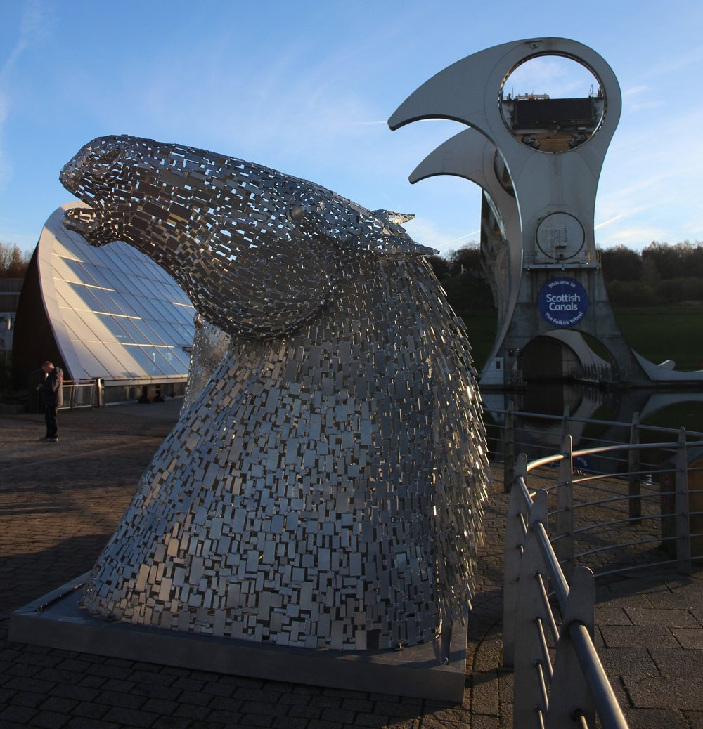 The Falkirk Wheel and 'mini' Kelpies