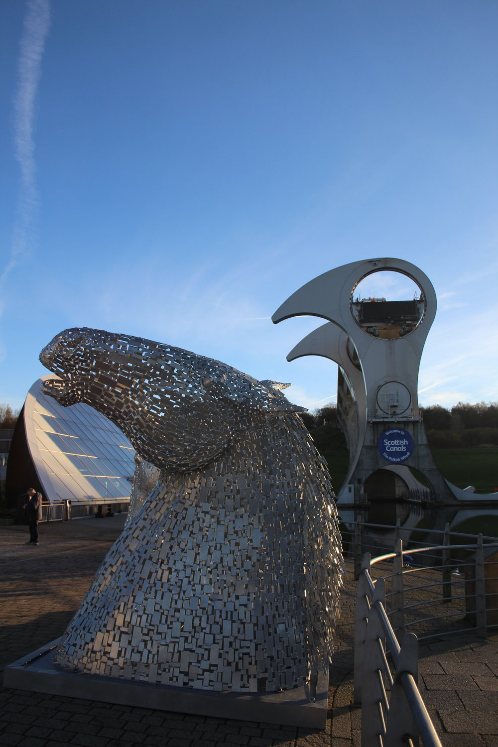 Falkirk Wheel and Mini Kelpies