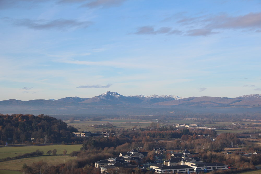 View from Stirling Castle esplanade