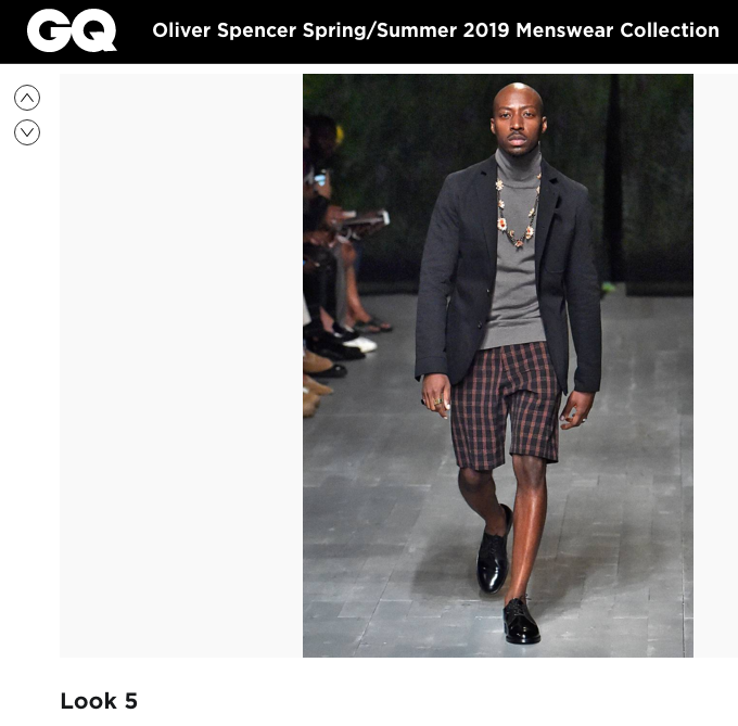 GQ - Oliver Spencer Spring/Summer 19, featuring Bleue Burnham jewellery