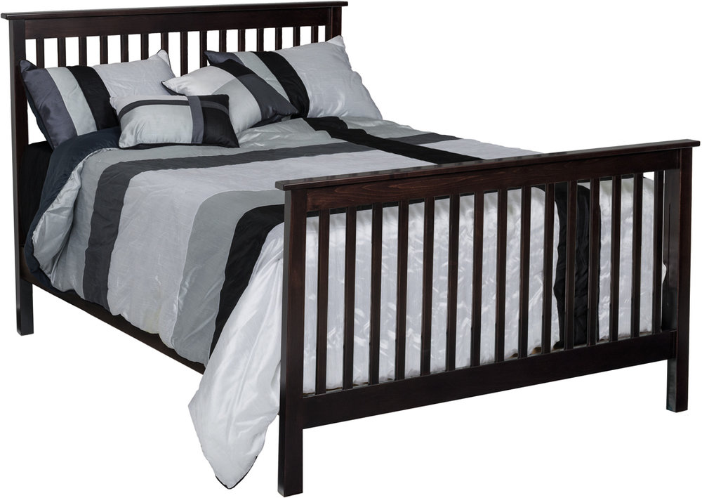 Economy Crib converted to a full size bed