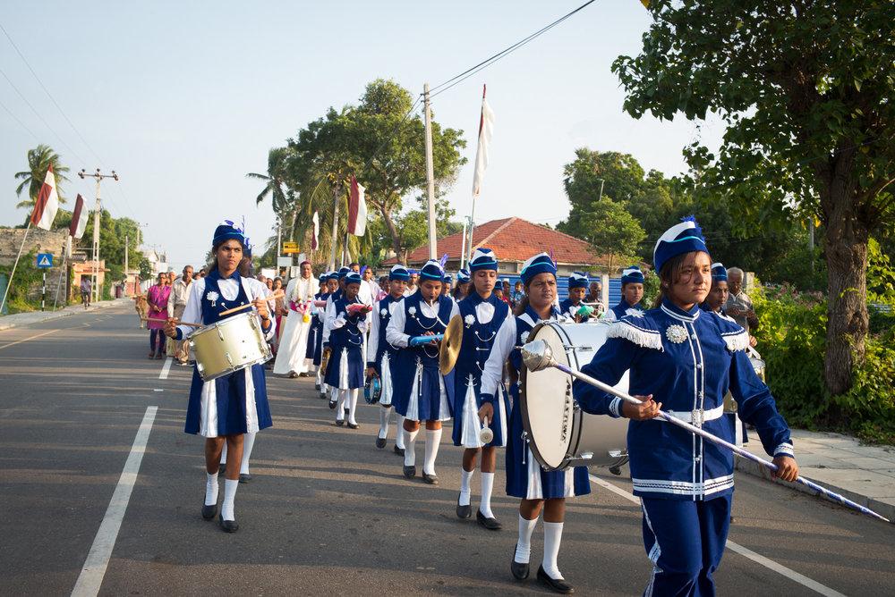 Street parade, Punkudutivu, Northern Province