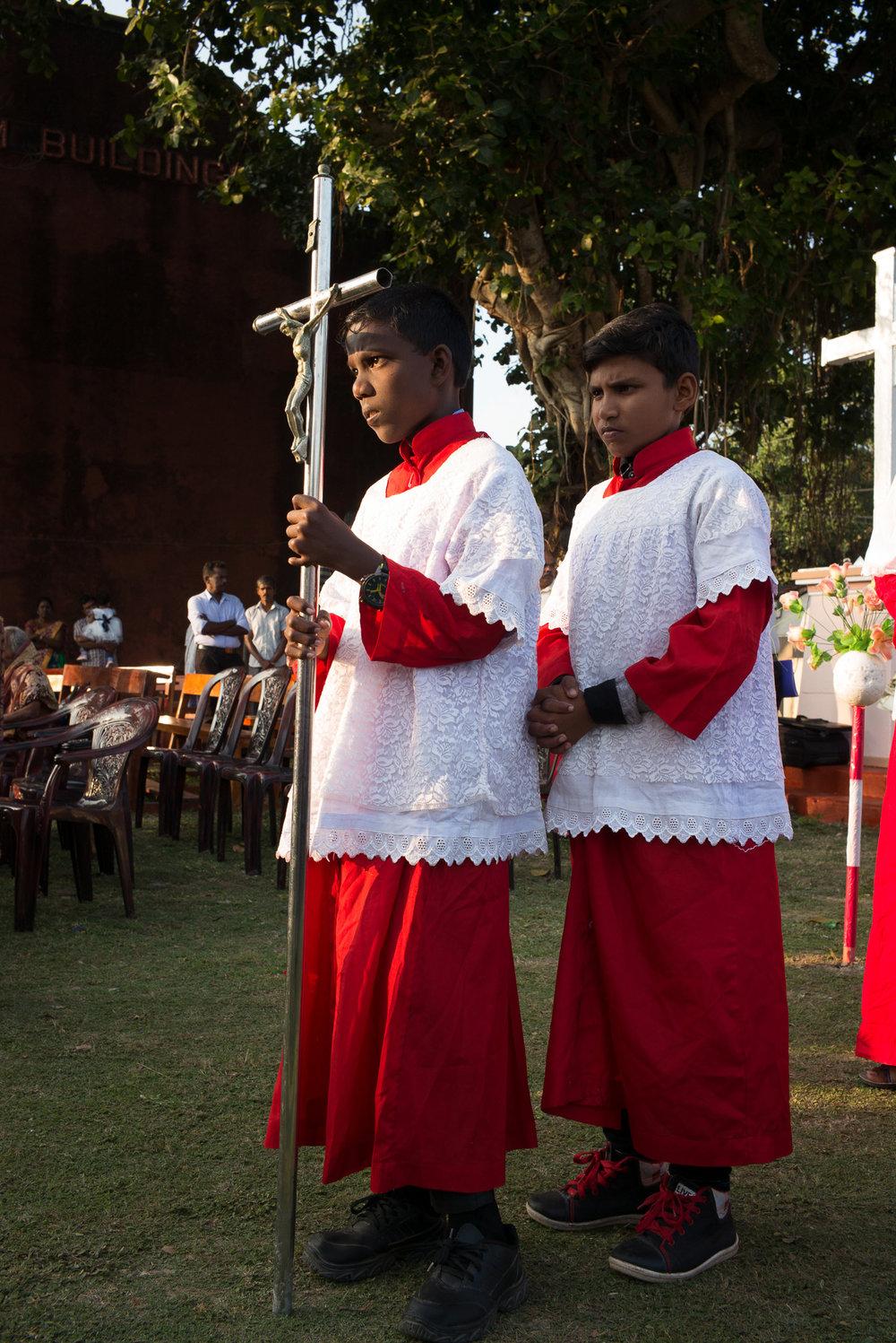 Altar boys, Punkudutivu, Northern Province