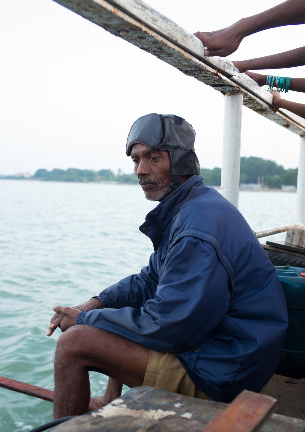 Boat driver, Northern Sri Lanka, 2018