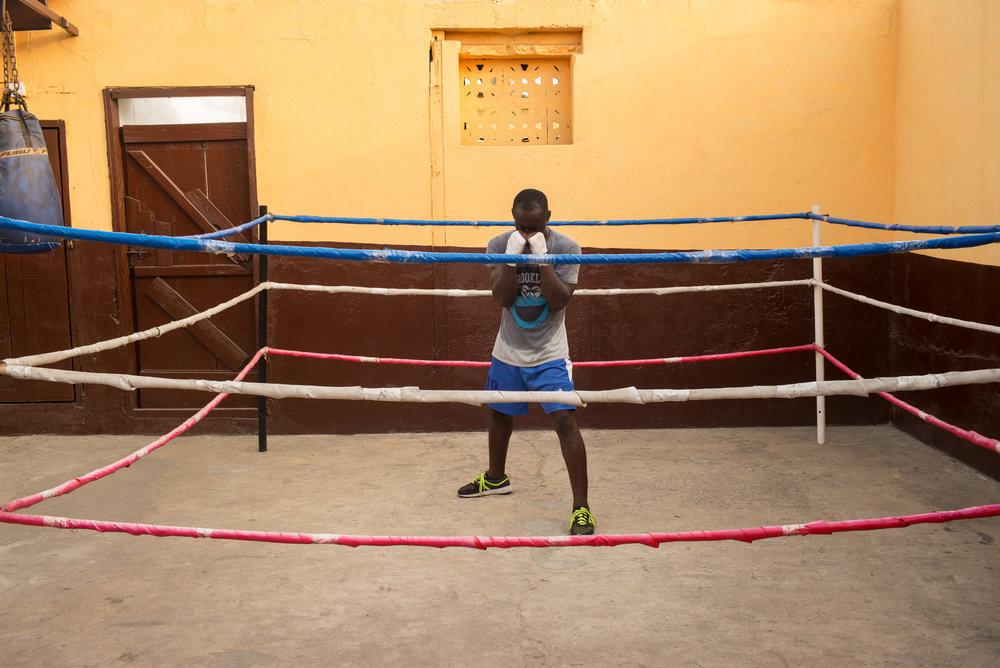 """Focus in The ring"" - Afternoon training at Discipline Boxing Academy, James Town"