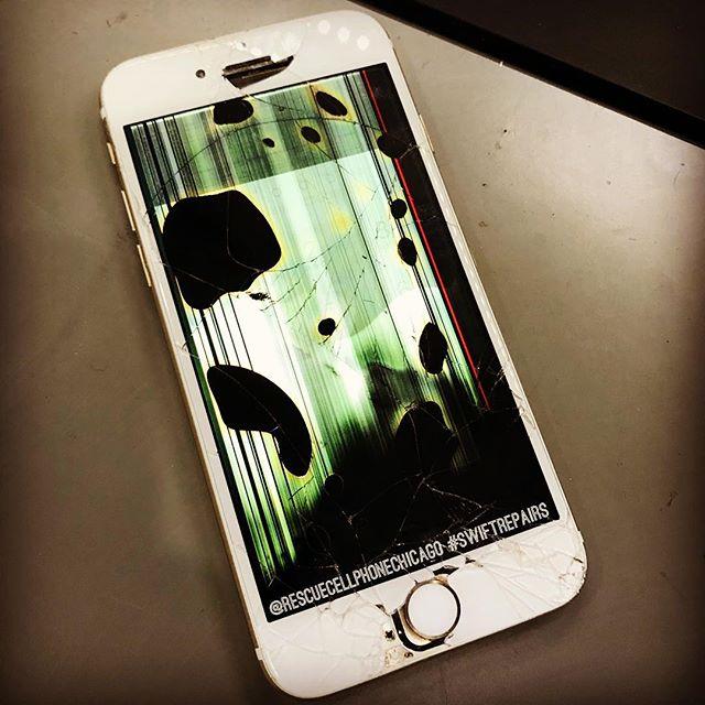 "Lines + ""bleeding"" spots = bad LCD  #wecanfixit #callusnow"
