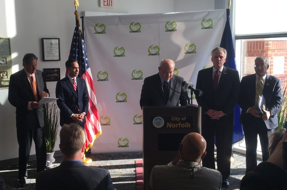 Federal, State, and Local Officials at $120 Million Award Ceremony