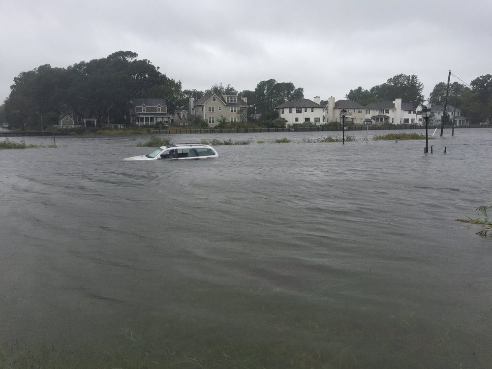 October 2, 2015 Nor'easter Catches Norfolk Motorist