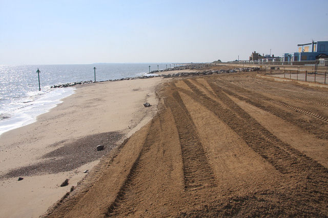 Norfolk, Virginia - The City of Norfolk's shoreline nourishment of Ocean View beach, in addtion to abating a chronic shoreline erosion problem, was designed to provide a sufficient dune and berm for storm protection.