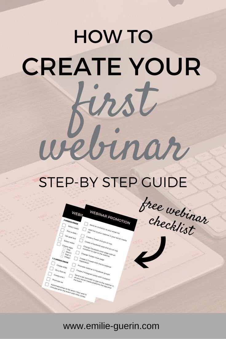 step-by-step webinar, first webinar, how to create first webinar, live event, webinar for bloggers, email list
