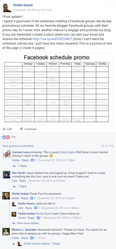 testimonials Facebook groups