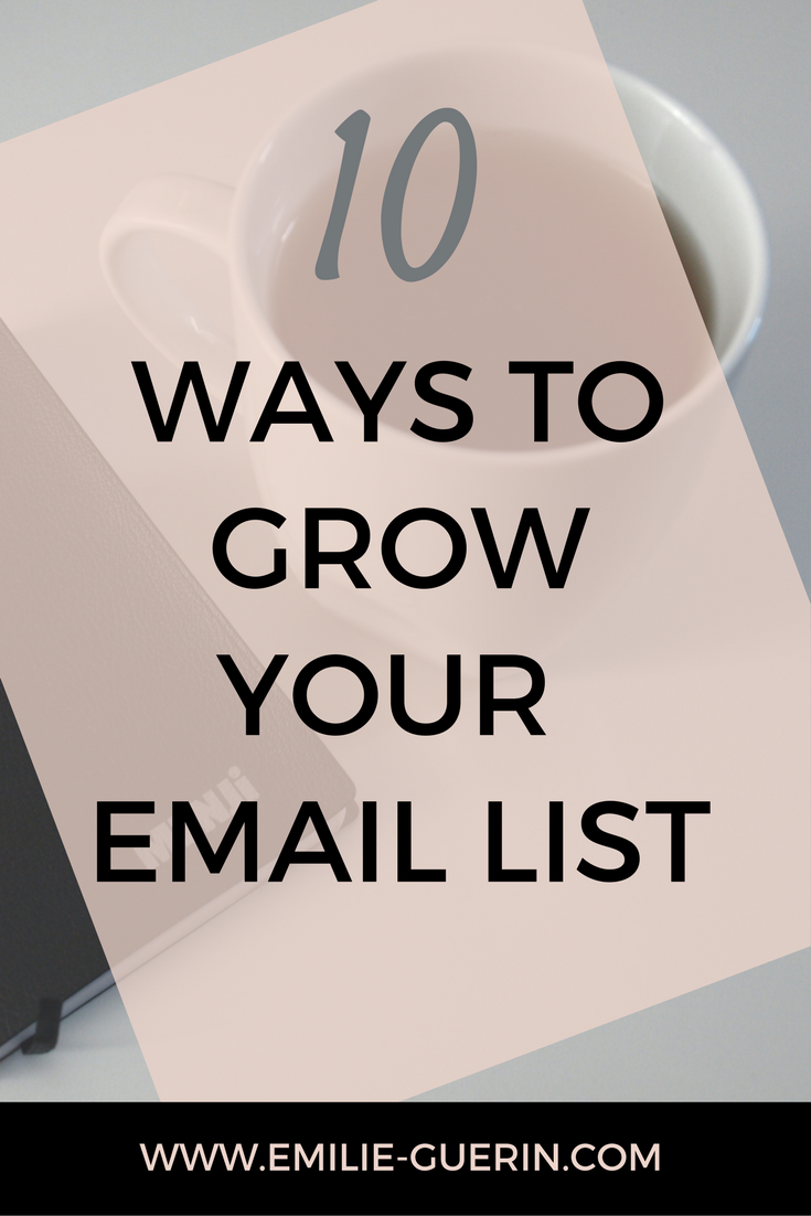 List building, grow your email list, email marketing, freebie, opt-in, lead magnet,  monetize your blog