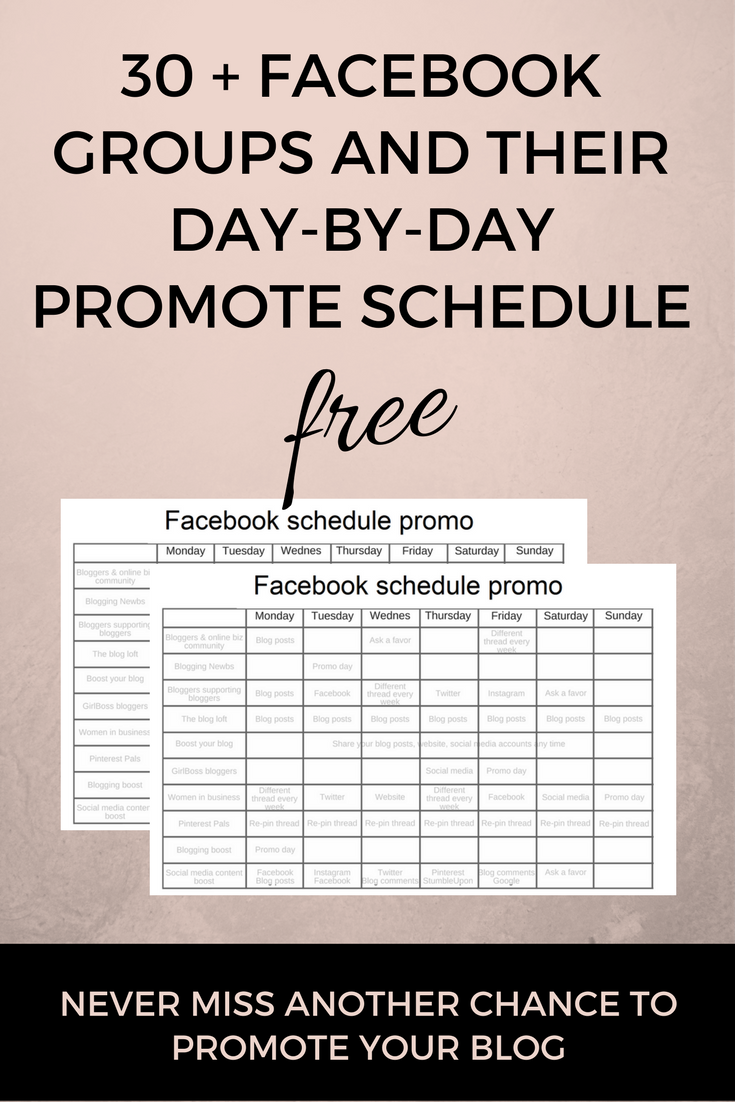 Free facebook group promo day