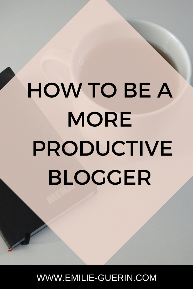 Learn how to be a more productive blogger and online business owner with those simple productivity strategies.