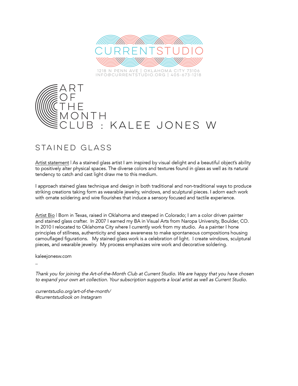 art of the month artist sheet - kalee jones w.jpg