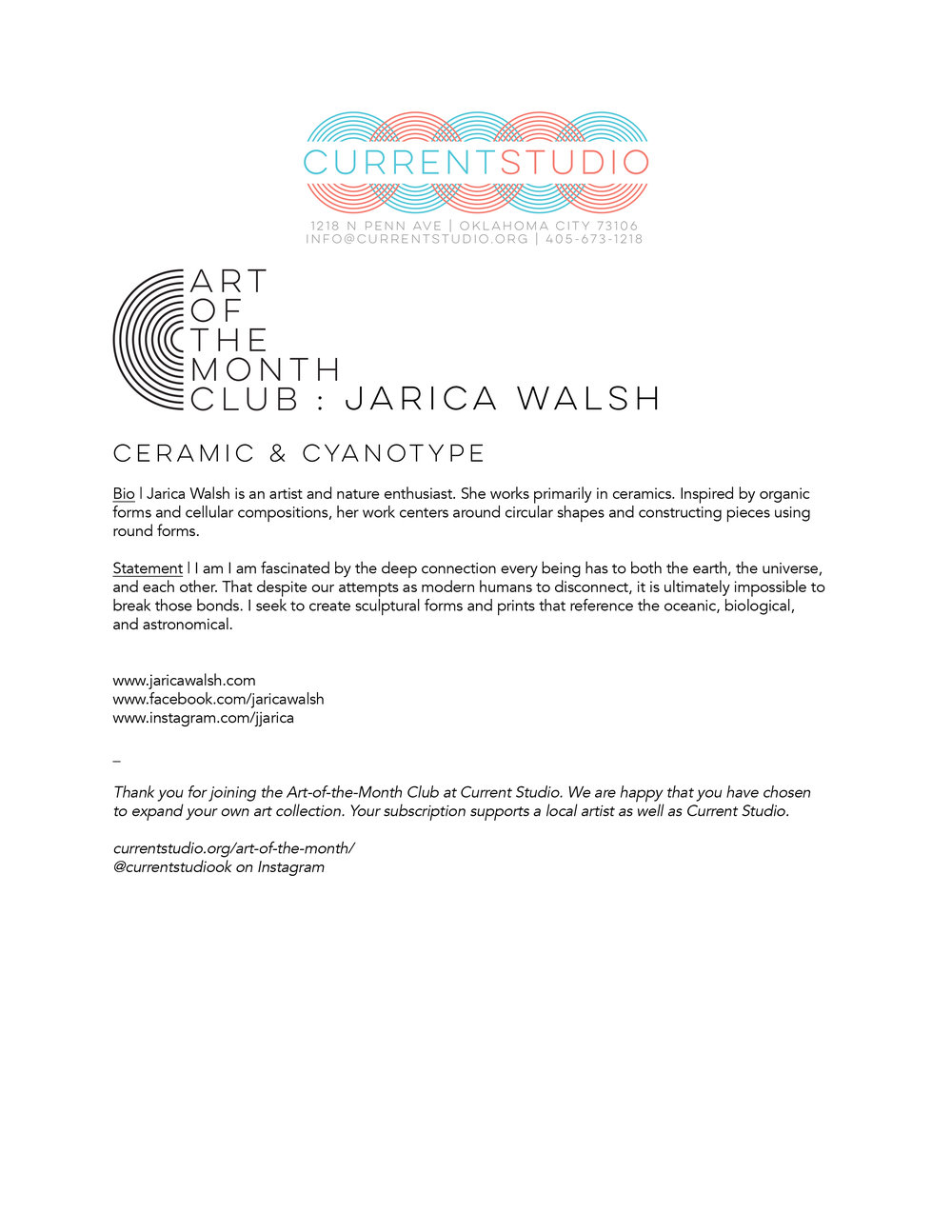 art of the month artist sheet - jarica walsh.jpg