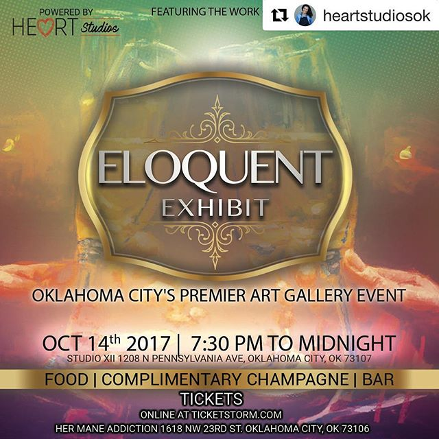 Tomorrow night our neighbors @studioxii are hosting #eloquentexhibit a project of @heartstudiosok - We ❤️ our neighborhood! #classentenpenn #neighborhood #supportlocalart