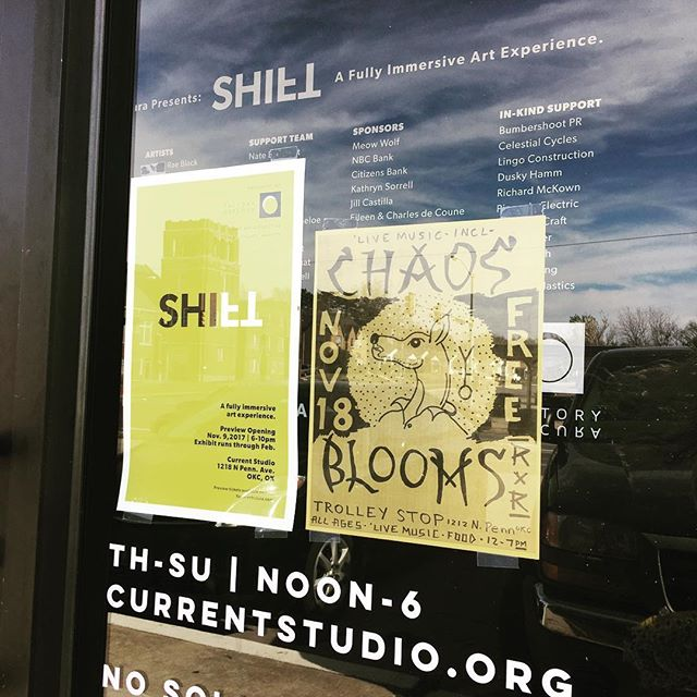 Heads up! Here are your Saturday plans. Come to @currentstudiook to see @factoryobscura presents SHIFT, then head over to neighbors @trolleystoprecordshop for live music! All free! We 💜our neighborhood! #factoryobscura #classentenpenn #neighborhood #art #music #saturdayplans