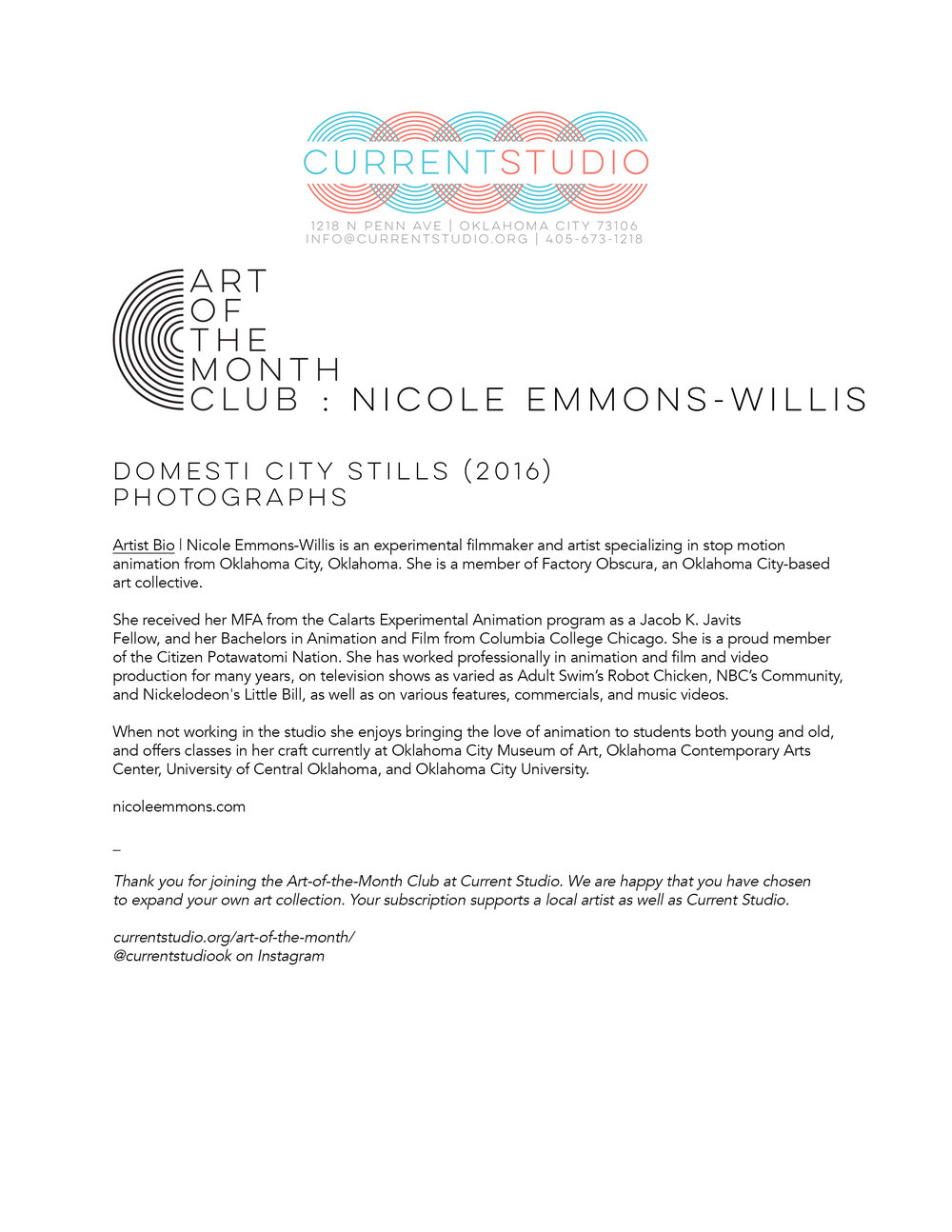 art of the month artist sheet - nicole emmons willis.jpg