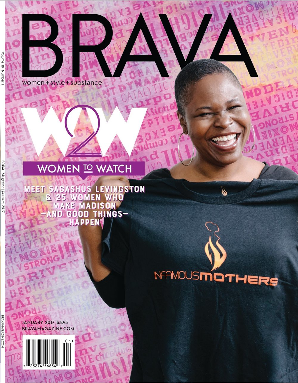 BRAVA Magazine (Cover Girl, January 2017)