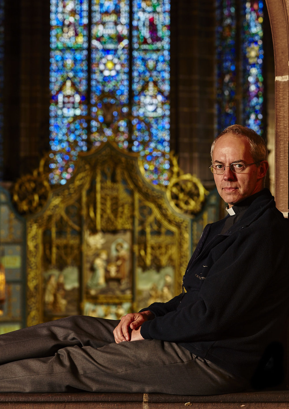 The Most Reverend Justin Welby, on the gallery of the Lady Chapel