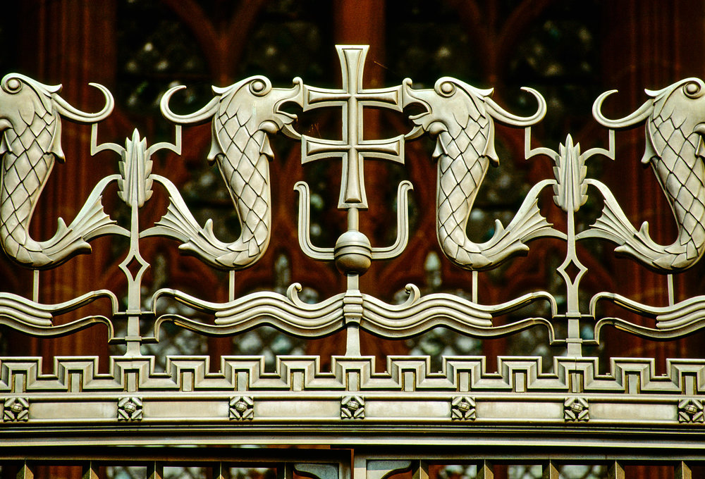 Bronze gates, Rankin Porch, Liverpool Cathedral
