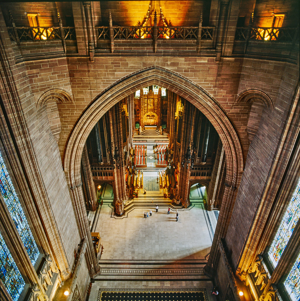 View from the Corona Gallery, Liverpool Cathedral