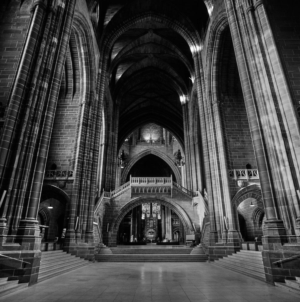 Liverpool Cathedral interior, viewed from the west end