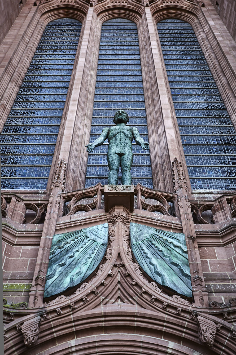 Elisabeth Frink, 'The Risen Christ'. Bronze. Liverpool Cathedral