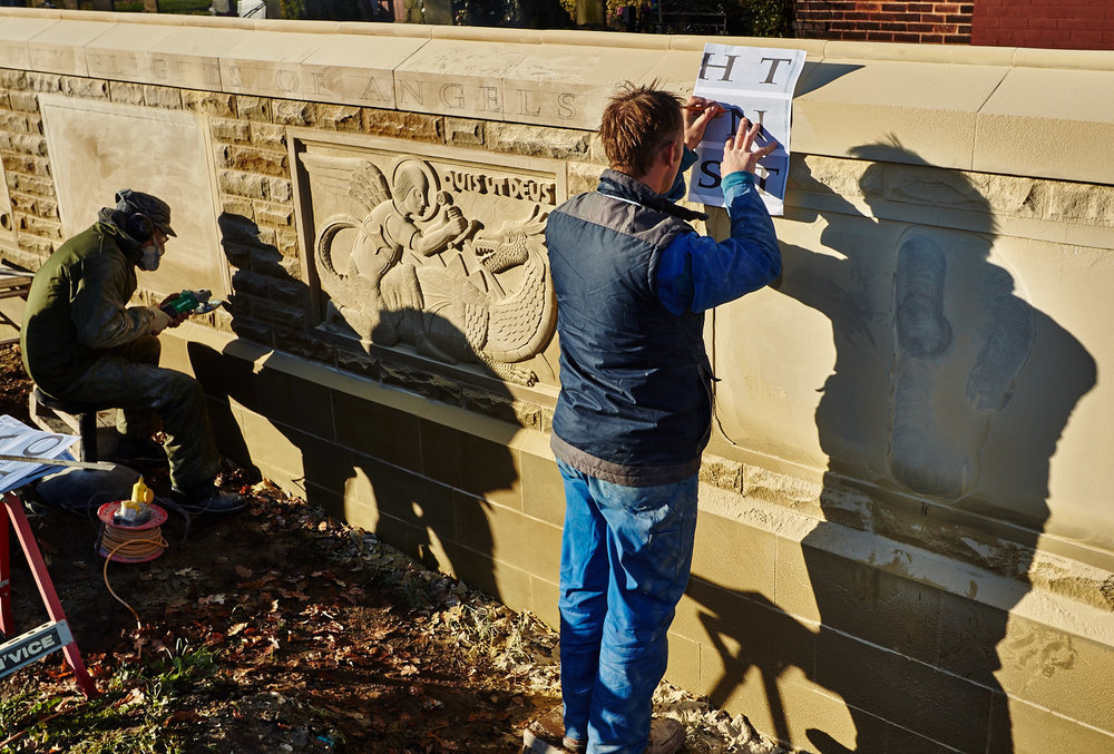 Teucer Wilson, stonecarver, lettercutter & designer