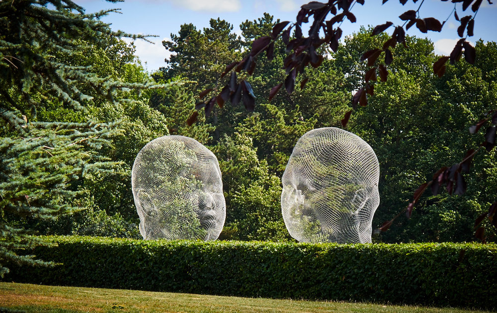 Nuria and Irma, artist Jaume Plensa