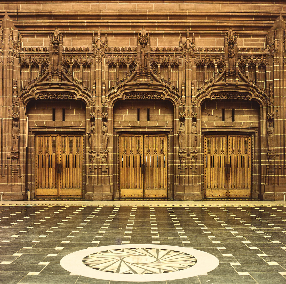 The inner doors of the Rankin Porch