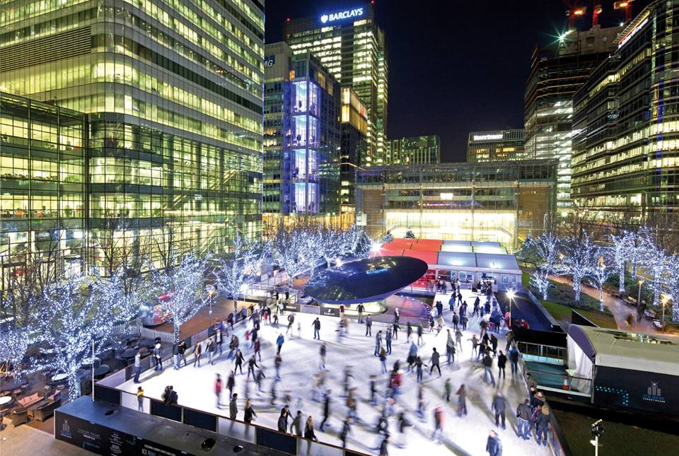 Ice skating at Canary Wharf (photo: Canary Warf Ice Rink Facebook)