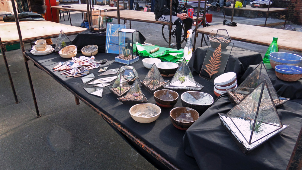 A pop-up market near Broadway Market