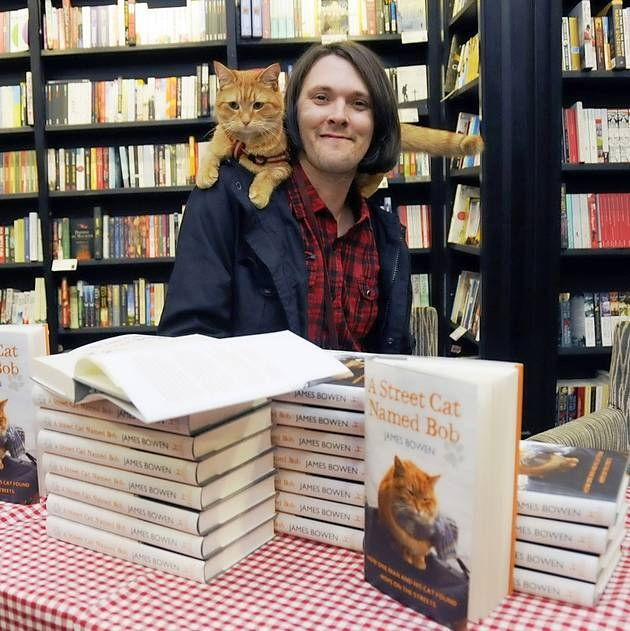 James and Bob at Waterstone's Islington (photo: Islington Gazette)