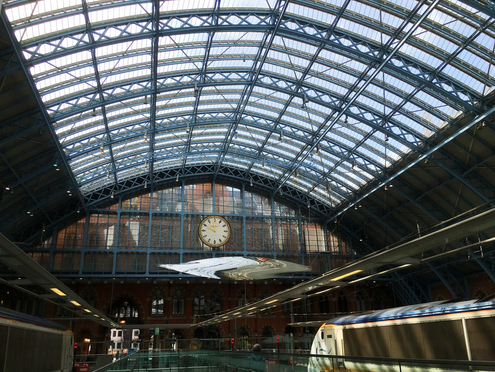 'Thought of train of Thought' by Ron Arad at St Pancras (own photo)