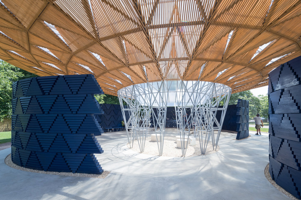 Serpentine Pavilion 2017, designed by Francis Kéré. Serpentine Gallery, London © Kéré Architecture, Photography © 2017 Iwan Baan