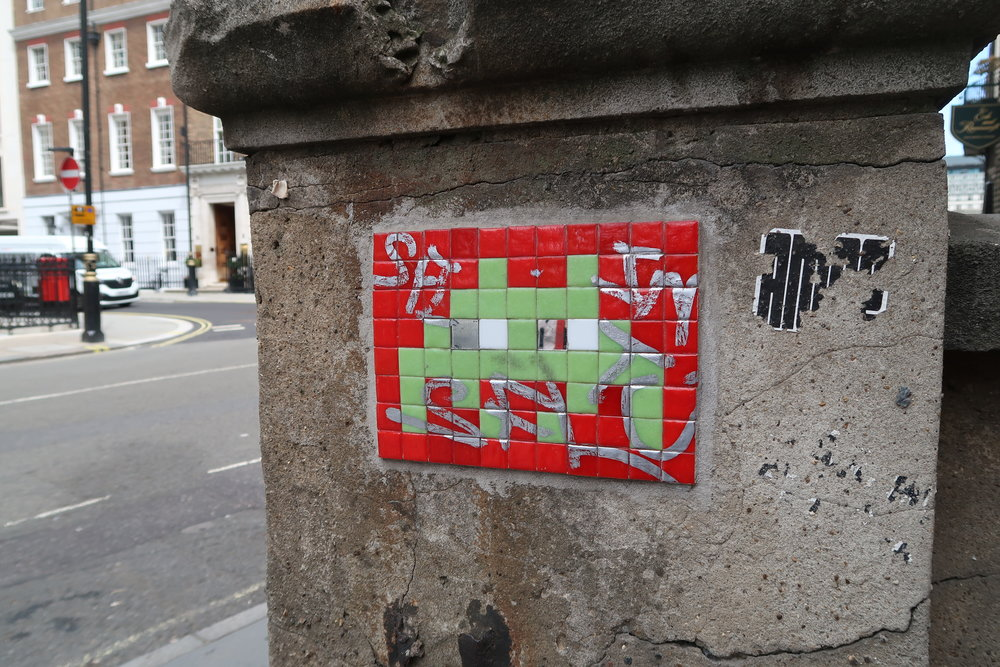 Invader near the Royal Academy - own photo