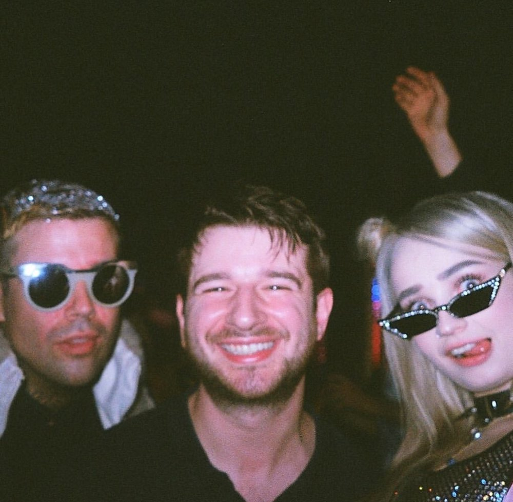 Jesse Saint John (left), Alex Chapman (center), Kim Petras (right)