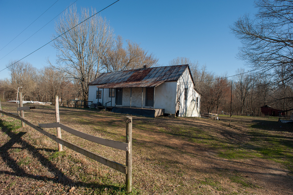 Otha Turner's home is located a few miles east of Senatobia on OB McClinton Road.